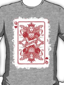QUEEN OF HEARTS, poker card. T-Shirt