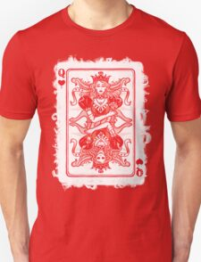 QUEEN OF HEARTS, poker card. Unisex T-Shirt
