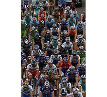 Sea of Cyclists Photographic Print