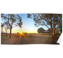 Ballarat, Vic, Australia. Sunset Poster