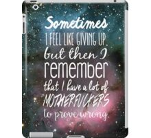 Prove Them Wrong.  iPad Case/Skin