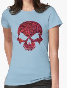 Halloween Red Swirl Skull T-Shirt