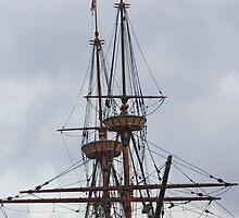 Mayflower Masts by AnnDixon