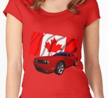 Challenger Canada Women's Fitted Scoop T-Shirt