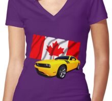 Challenger Canada Women's Fitted V-Neck T-Shirt