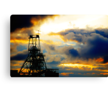 South Crofty at sunset Canvas Print