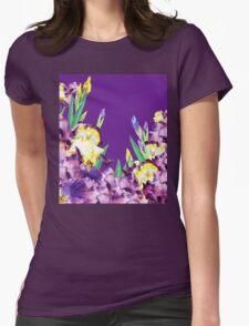 Iris garden Purple Sky Womens Fitted T-Shirt