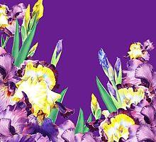Iris garden Purple Sky by Irina Sztukowski