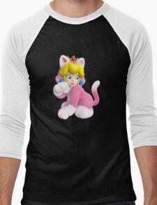 Cat Peach Men's Baseball ¾ T-Shirt