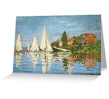 Regattas at Argenteuil - Claude Monet - 1872 Greeting Card