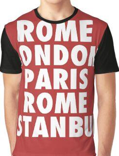 Liverpool Champions League Destinations. Graphic T-Shirt