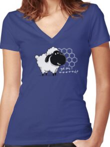 Catan You Give Me Wood? | Settlers of Catan Board Game Geek Sheep Women's Fitted V-Neck T-Shirt
