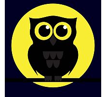 Halloween Shabby the Night Owl Photographic Print