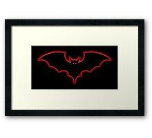 Halloween Glow Bat Framed Print