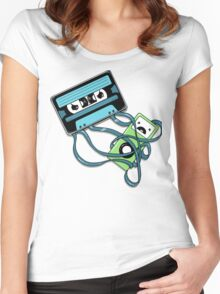 The Comeback | Retro Music Cassette Vs iPod Women's Fitted Scoop T-Shirt