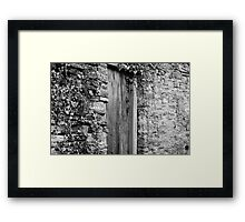Mysterious aged doorway Framed Print