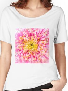 Pink & Yellow Women's Relaxed Fit T-Shirt