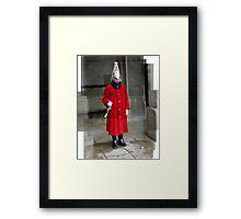 An english guard Framed Print