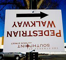 Wrong Way Walkway Sign By Jonathan Green by Jonathan  Green