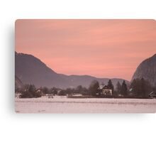 First sunset of the year Canvas Print