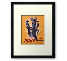 Mexico Travel Poster 1 Framed Print
