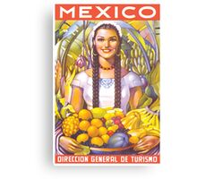 Mexico Travel Poster 2 Canvas Print