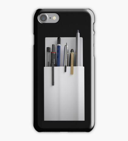 plastic pocket protector - pen holder iPhone Case/Skin