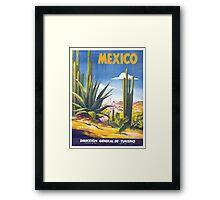 Mexico Travel Poster 3 Framed Print