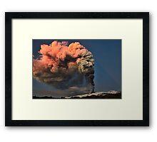 A spectacular eruption Framed Print