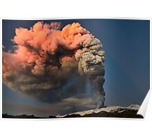 A spectacular eruption Poster