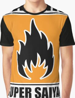 DBZ - Super Saiyan Warning Graphic T-Shirt
