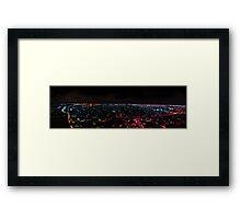 Miami Night City View Framed Print