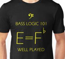 Bass Logic 101 -- E = F Flat Unisex T-Shirt