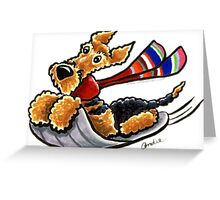 Aire-Sledding Greeting Card