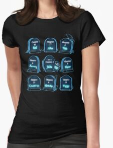 Spoiler Graveyard | Literary Characters Who Die in their Books Womens Fitted T-Shirt