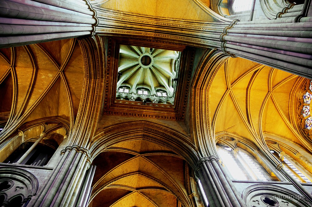 The ceiling of Truro cathedral  by aaronnaps