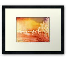 Lake on Fire Framed Print