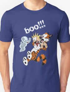 Calvin Scaried by Little Cute Ghost T-Shirt