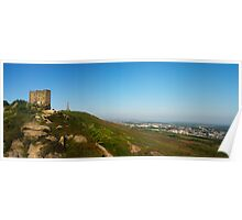 A panoramic of Carn Brea hill Poster