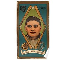 Benjamin K Edwards Collection Charles Schmidt Detroit Tigers baseball card portrait Poster