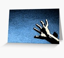 Hand. Piazza Navona. Rome, Italy. Greeting Card