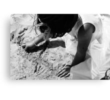 Playing in the Sand Canvas Print
