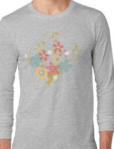 Pretty Pastel Floral Bouquet Long Sleeve T-Shirt