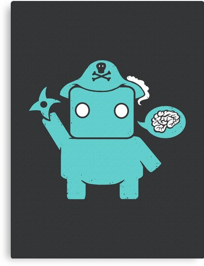 Ninja, Pirate, Robot, Zombie | Cute Geek Character by BootsBoots
