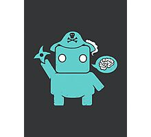 Ninja, Pirate, Robot, Zombie | Cute Geek Character Photographic Print