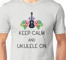 Keep Calm and Ukulele On Unisex T-Shirt