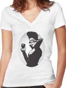 God Save the (Evil) Queen Women's Fitted V-Neck T-Shirt