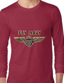 Naval Aviator Wings Long Sleeve T-Shirt