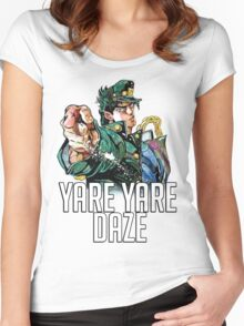 Jotaro Kujo YARE YARE DAZE T-Shirt Women's Fitted Scoop T-Shirt