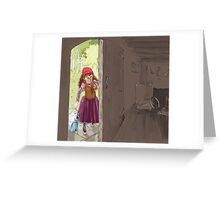 girl with Lunch Greeting Card